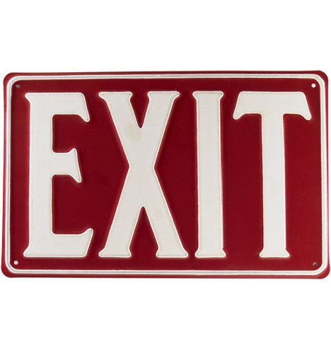 Red Exit Sign  9Red Exit Sign