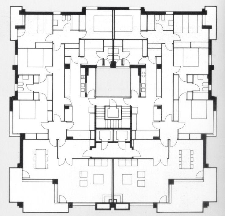 Edifici vivendes Correa i Milà | magnifica distribución. todas las estancias tienen ventilación natural