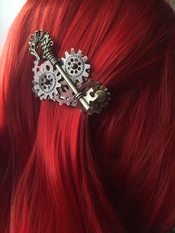 Seahorse Nautical Hair Accessories  Steampunk by ArcanumByAerrowae