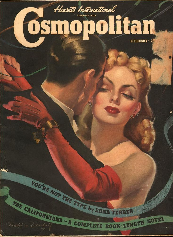 "Cosmopolitan magazine, FEBRUARY 1940 Artist: ""The Witching Hour"" Bradshaw Crandell"