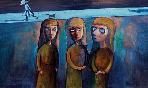 Charles Blackman, Schoolgirls, 1954