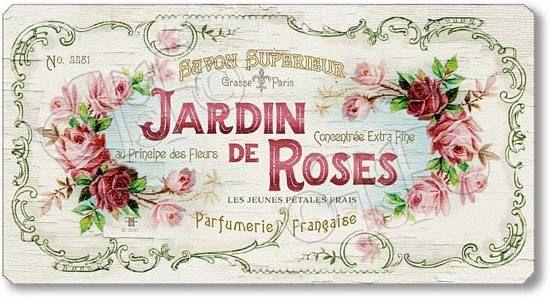 Item 10517 Vintage Style Perfume Lable Plaque