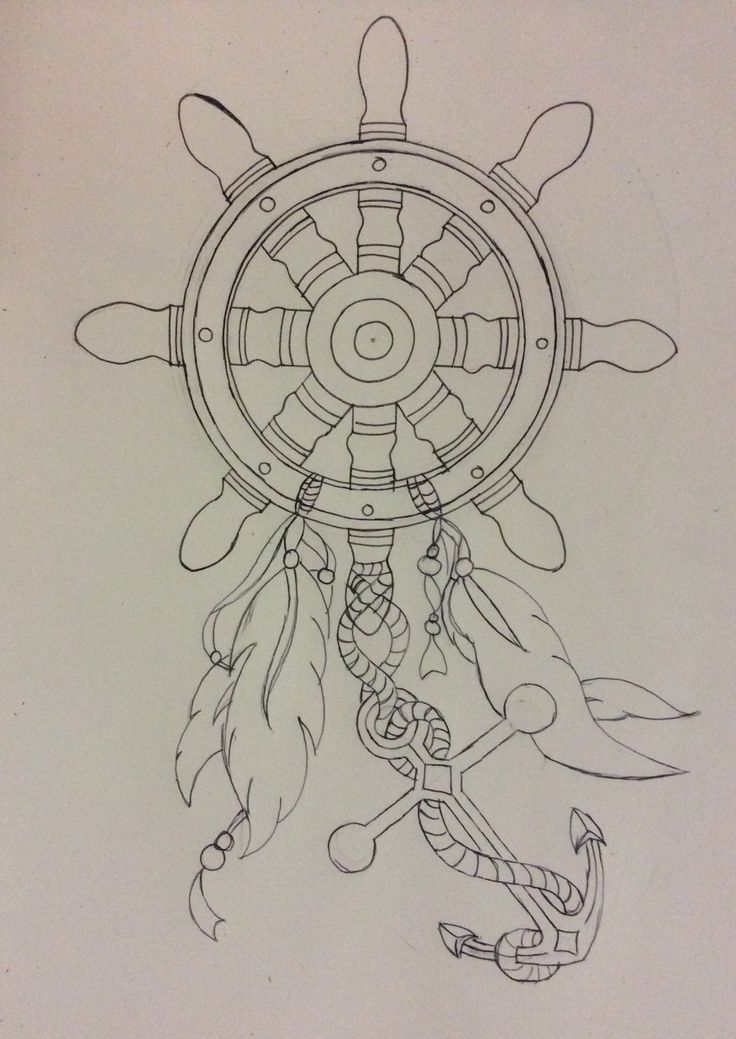 Nautical themed dream catcher. Tattoo idea.