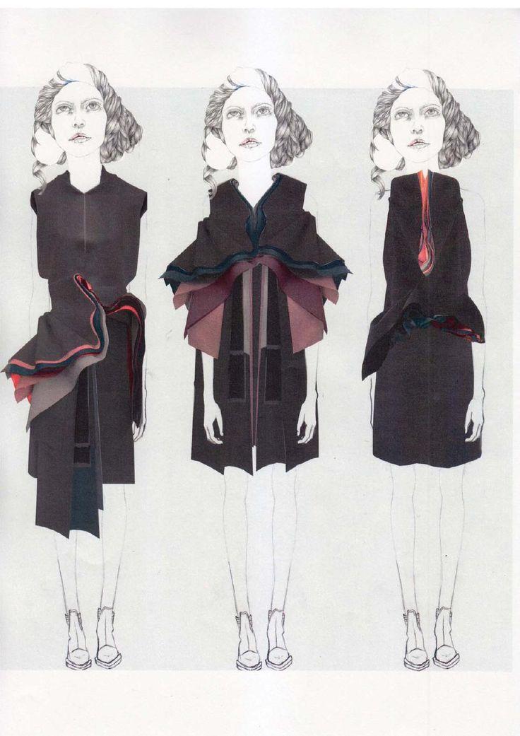 Fashion Sketchbook - fashion illustrations; collage drawings; fashion portfolio // Valeska Collado