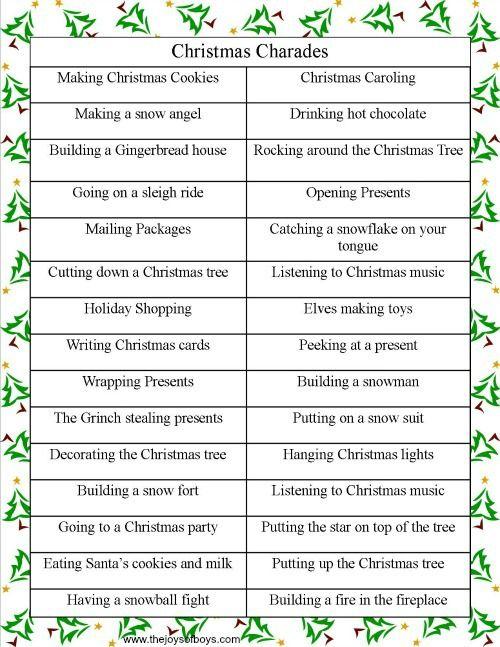 Christmas Charades | The Joys of Boys