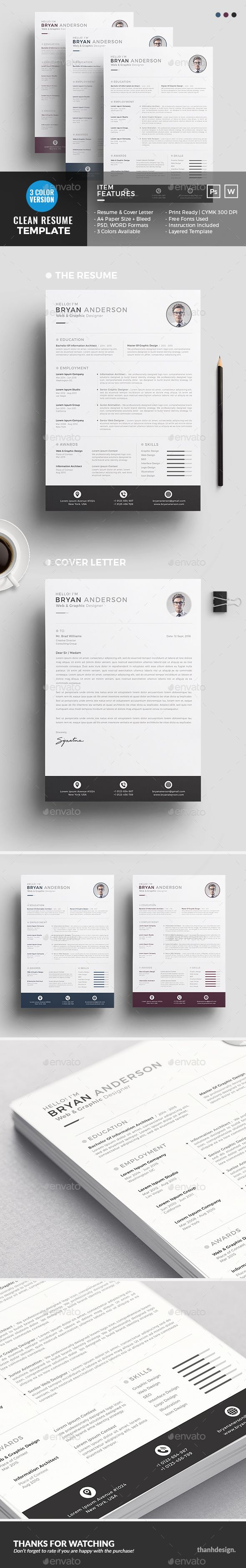 Resume Design Template Resumes Template PSD