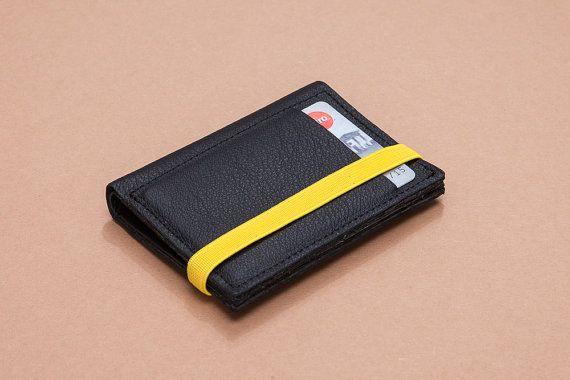 Minimalist Wallet Leather Wallet Slim Wallet by Gazur on Etsy