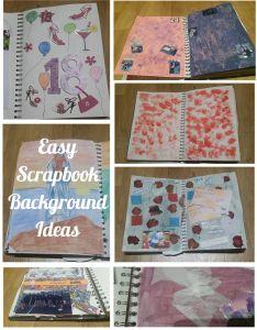 Easy Scrapbook Background Ideas | crafts | Scrapbooking | Homemade Inspiration