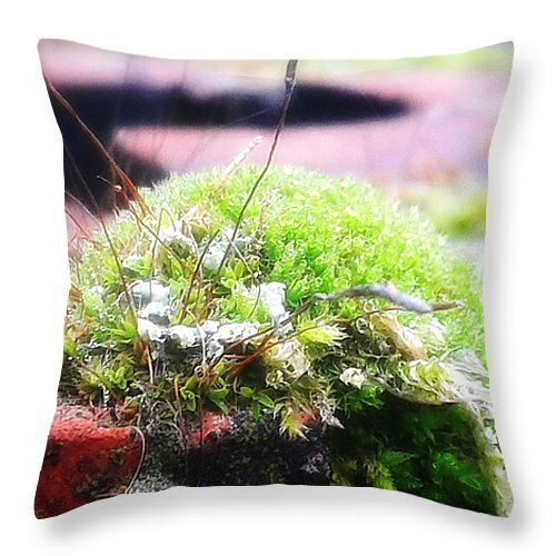 "Moss Throw Pillow 14"" x 14"" by Mimulux patricia no"