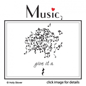 Music Bed Head  Unique Rub-On Wall Decal Art • comes in individual pieces so you can make your own design  http://www.theartdeli.com