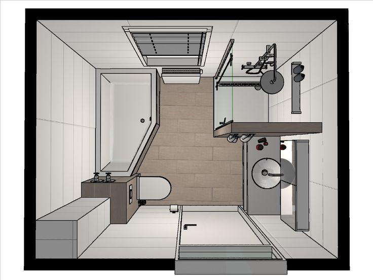 17 beste idee n over kleine badkamer indeling op pinterest kleine badkamers kleine kelder - Idee van deco badkamer ...