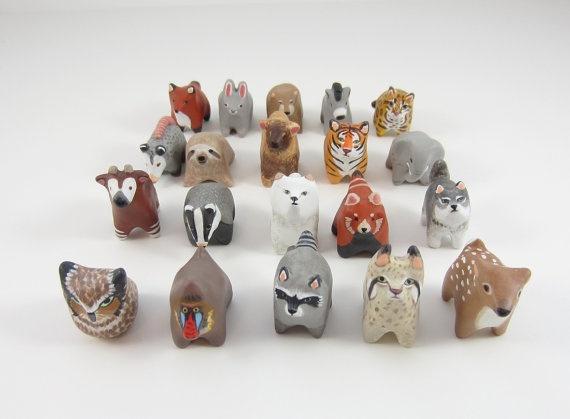 Handy Maiden: Polymerclay, Animals, Pockets Totems, Handymaiden, Handy Maiden, Animal Totems, Polymer Clay, Totems Figurines, Animal Pockets