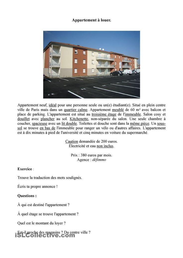 FLE logement à vendre/à louer