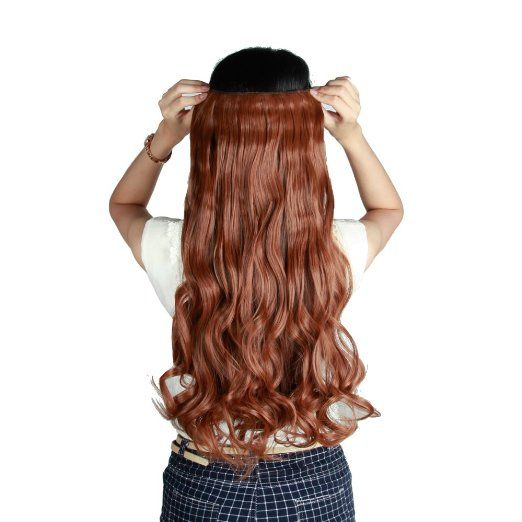 Amazon.com : S-noilite®US Local Seller Light Auburn 24 Inches Curly One Piece Clip in Hair Extensions (5 Clips) Clip Ins Hairpiece for Women Lady Girl : Beauty