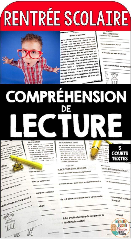 Compréhension de lecture pour le primaire - Cinq courts textes avec questions de compréhension. Les élèves doivent lire le texte et répondre aux questions.