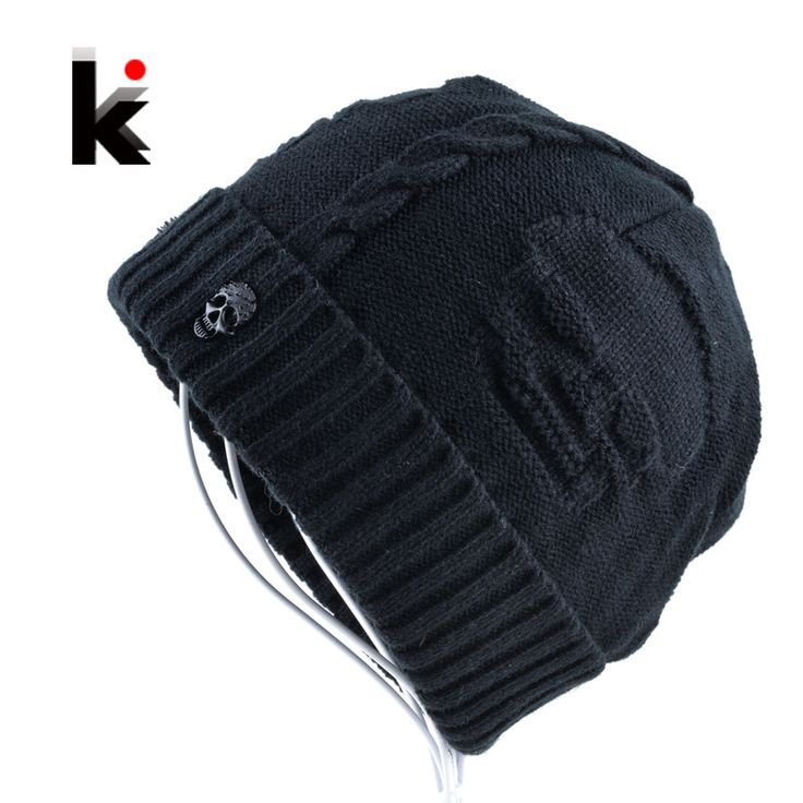 Skull Hoodies, Jackets, T-Shirts, Shoes, Boots and more 2016 Mens Skullie... fined here http://rebelstreetclothing.com/products/2016-mens-skullies-winter-hat-beanies-knitted-wool-hip-hop-stocking-hat-plus-velvet-rasta-cap-skull-bonnet-hats-for-men