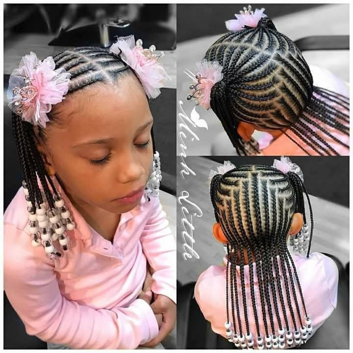 Cute Little Girl Hairstyle Braids For Kids Little Girl Braids Lil Girl Hairstyles