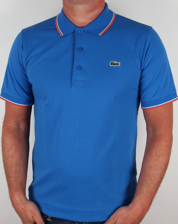 lacoste mens tipped polo shirt - Google Search