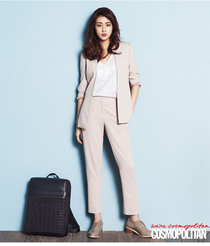 Kang So Ra's Trendy Office Look For Cosmopolitan Korea's February 2015 Issue | Couch Kimchi