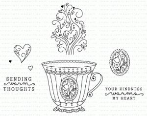 What the Doodle: Tea Time Mini Stamp Set $5 paper tray ink