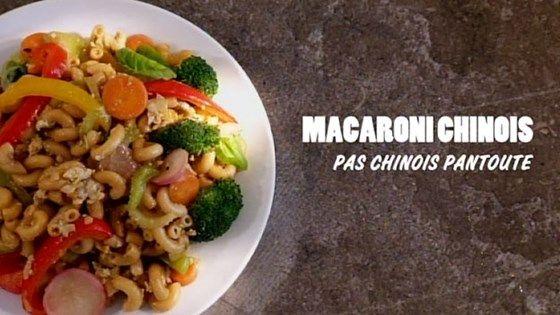 Macaroni chinois, pas chinois pantoute