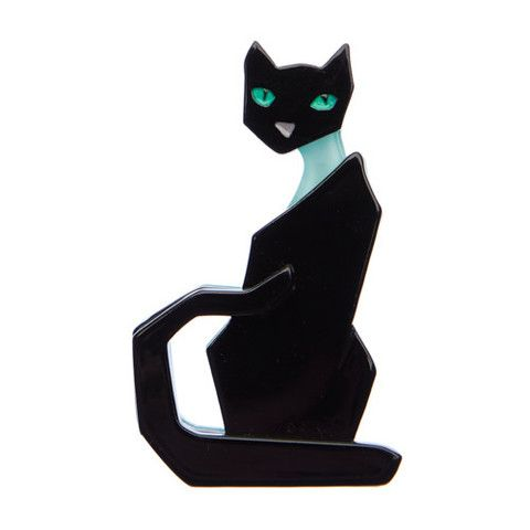 """Erstwilder Limited Edition Kitty En Vogue Brooch. """"There is nothing to it. Strike a pose a la mode our fabulous feline friend."""""""