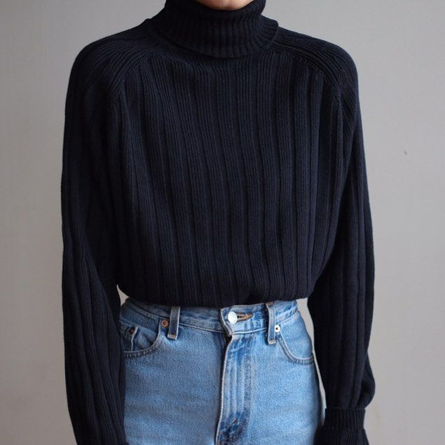 Another look at vintage unisex midnight navy silk wool blend ribbed turtleneck, best fits s-l. Soft and cozy. DM or comment for details. $52 + shipping.    #Regram via @gs__bs