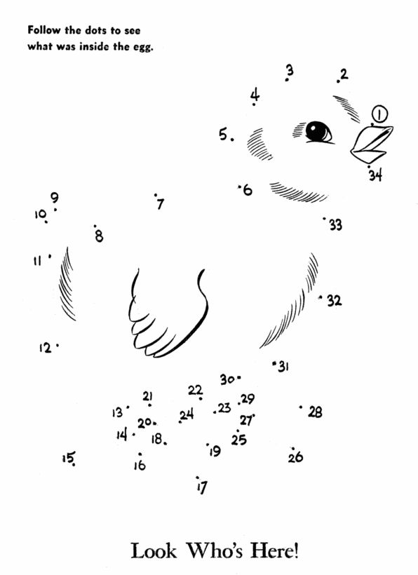 dot to dot activity page easter chick