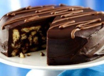 Τούρτα κορμός σοκολάτας, για τους λάτρεις της σοκολάτας!