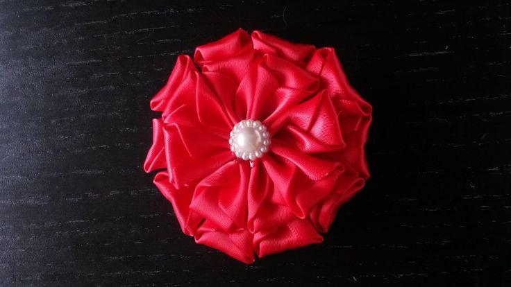Instructie satijnen bloem. instruction satin flower. Kanzashi