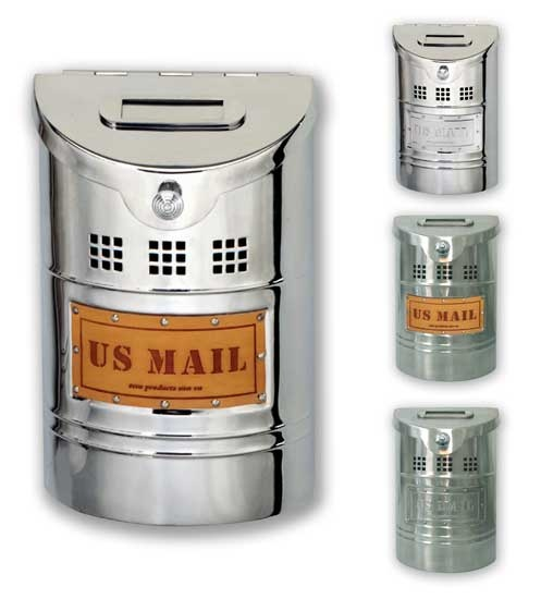 Stainless Steel Small Wall Mount Mailbox    /It's freaking hard to find a mailbox that's actually tall enough AND skinny. Jeez!