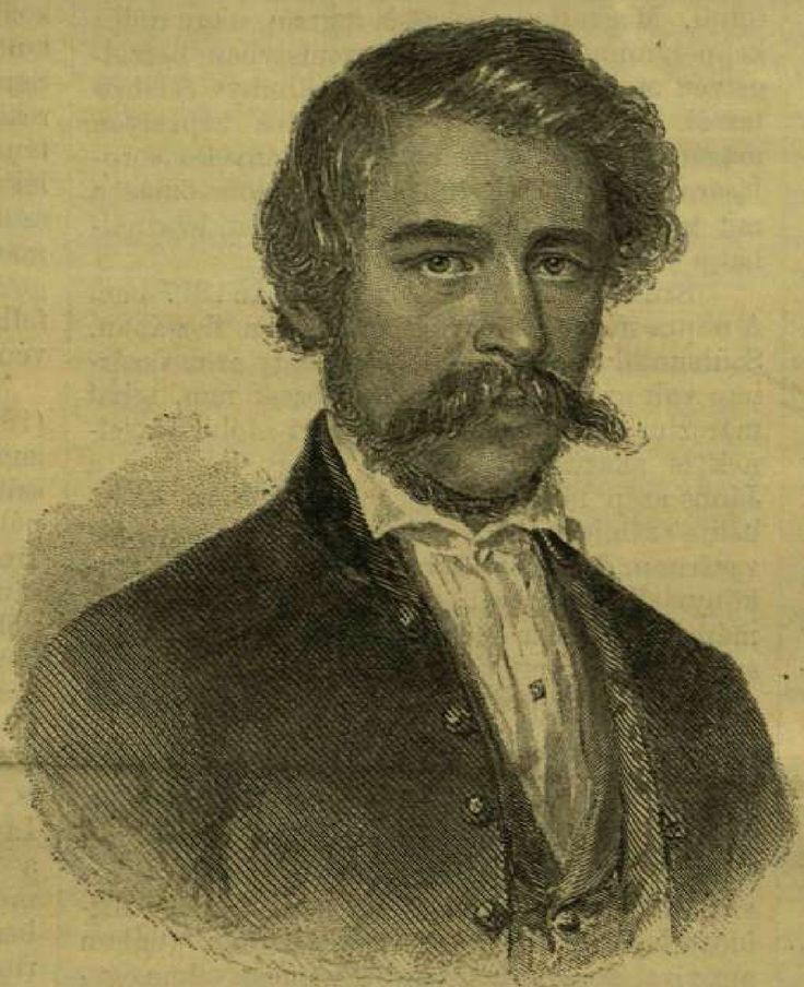 "JÁNOS ARANY (02.03.1817 - 22.10.1882.) was one of greatest Hungarian poets and the best friend of Sándor Petőfi. He wrote famous epic and lyric works: e.g. the epic trilogy ""Toldi"", the Ballads and Romances etc. In this portrait he is 35-40 years old."