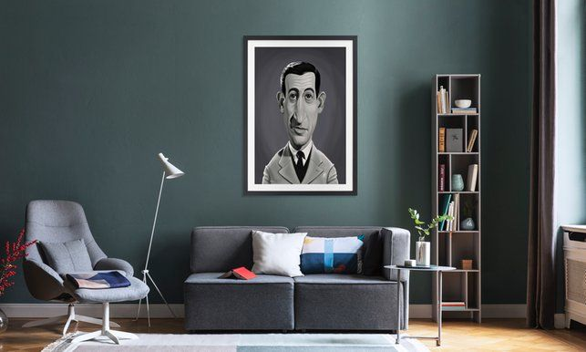 J.D. Salinger - Rob Snow | Creative - Poster in Wooden Frame art | decor | wall art | inspiration | caricature | home decor | idea | humor | gifts