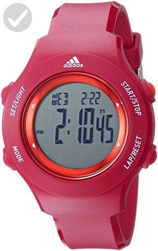 adidas Women's 'Sprung' Quartz Rubber and Silicone Casual Watch, Color:Red (Model: ADP3286) - All about women (*Amazon Partner-Link)