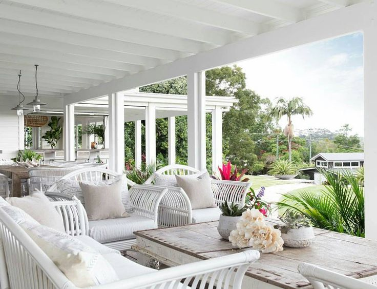 Our Queenslander Setting on the veranda at The Grove, Byron Bay