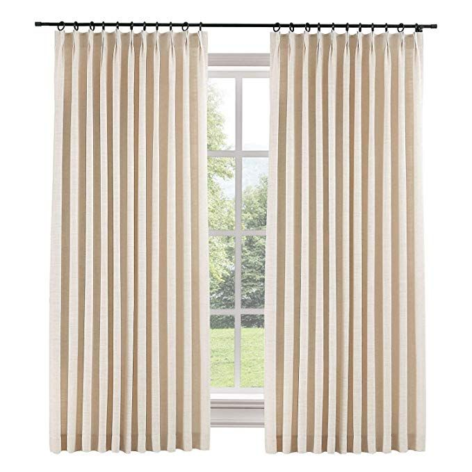 Chadmade Extra Wide Curtain Panels 100 W X 96 L Polyester Linen
