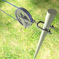 How to install a clothesine. Thread the clothesline in the two pulleys