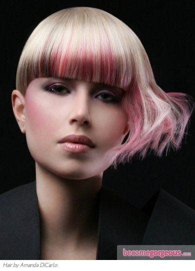 Glam Punk Pink Hair Highlights