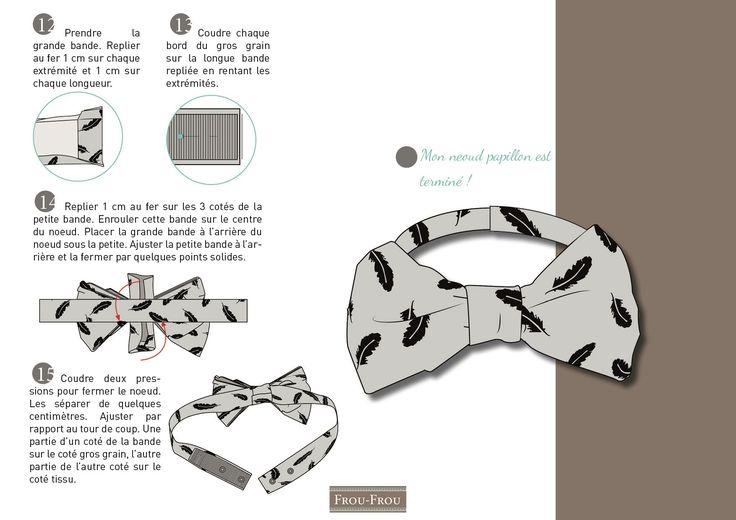 IDÉE CRÉATIVE : LE NOEUD PAPILLON COUTURE Idée créative : le noeud papillon couture Tutoriel couture à télécharger gratuitement : le noeud papillon pour des fêtes DIY