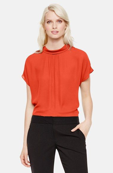 Vince Camuto Mock Neck Blouse (Regular & Petite) available at #Nordstrom
