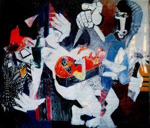 1969 - 1970 - Murder / L'Assassinat de Sharon Tate - 350 x 400 cm - Bernard Lorjou