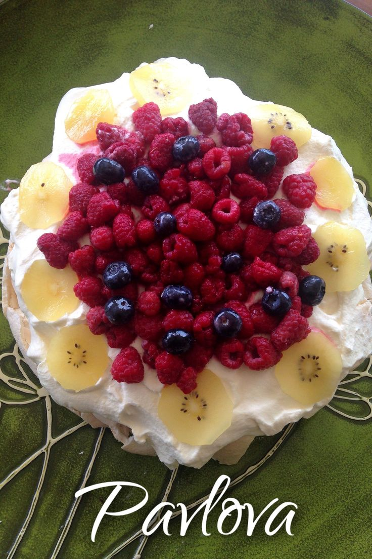 Christmas Dessert Recipe: Traditional New Zealand Pavlova -- meringue-based dessert topped with whipped cream and summer fruits