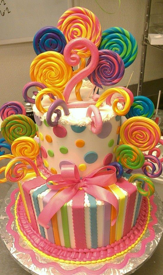 Lollipop Cake Baby Shower Cakes Pinterest Lollipop
