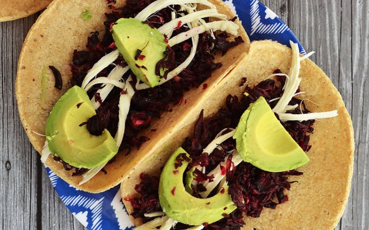 These hibiscus tacos are unique, delicious, and easy to make!