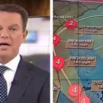 """Shepard Smith was widely mocked on social media after he issued a dire warning as Hurricane Matthew approached Florida. """"This moves 20 miles to the"""