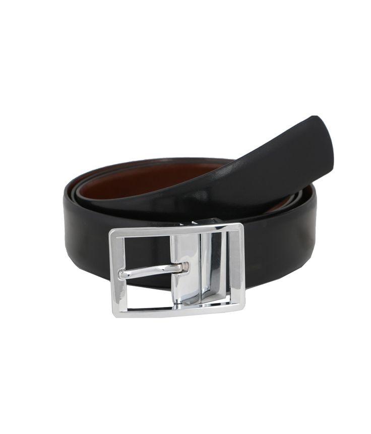 Vinson Massif Black Brown Vito Reversible Leather Belt