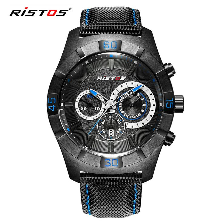 RISTOS 3ATM Water-resistant Sport Watch Quartz Wristwatch Men Sales Online blue - Tomtop.com