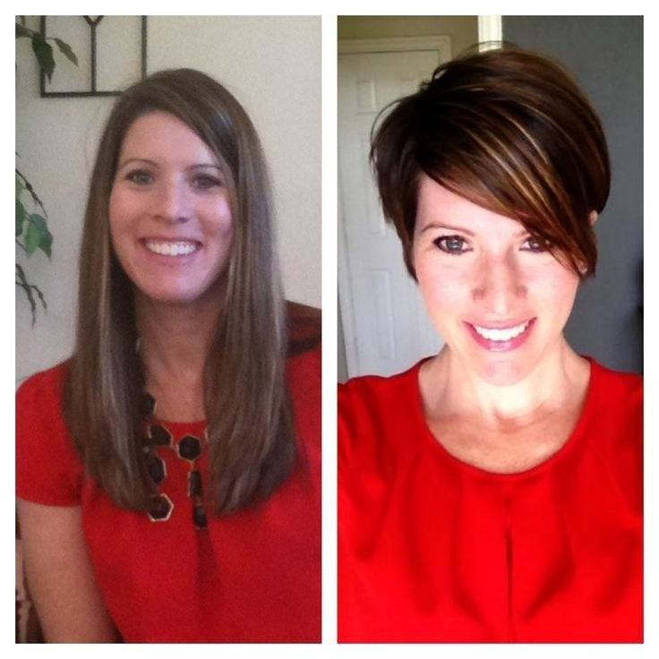 Before and After: Long to Short - 46 Best Before And After Images On Pinterest