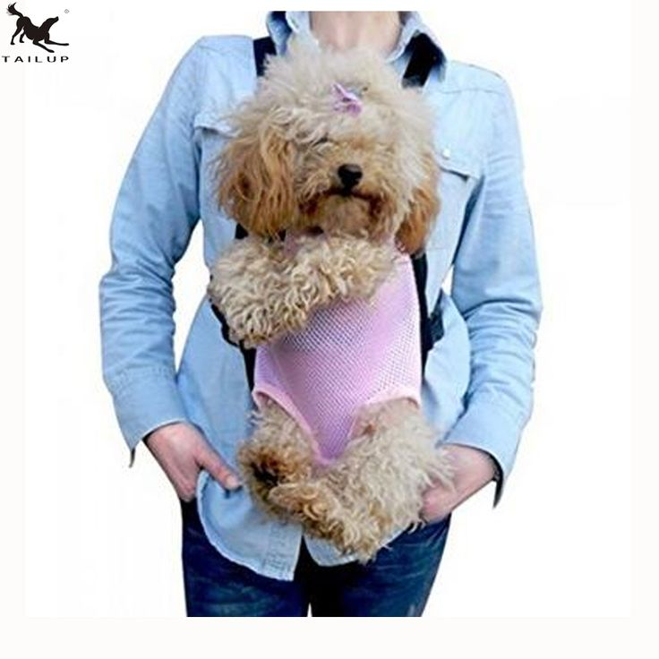 [TAILUP] Pet Dog Chest Carrier Bag Pets Front Chest Backpack Strap Doggy Shoulder Bag Pouch Pocket Pets Supplies PP012pink #Affiliate