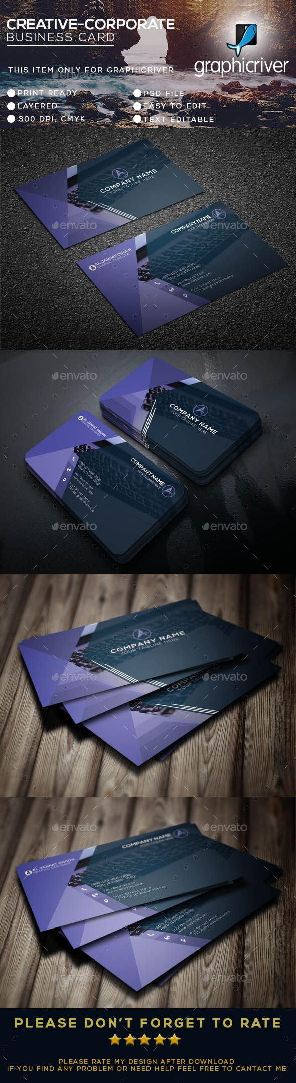 Corporate Business Card - Business Cards Print Templates Download here: https://graphicriver.net/item/corporate-business-card/19065391?https://graphicriver.net/item/business-cards/20038567?ref=classicdesignp